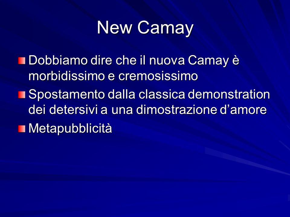 New Camay Dobbiamo dire che il nuova Camay è morbidissimo e cremosissimo Spostamento dalla classica demonstration dei detersivi a una dimostrazione damore Metapubblicità