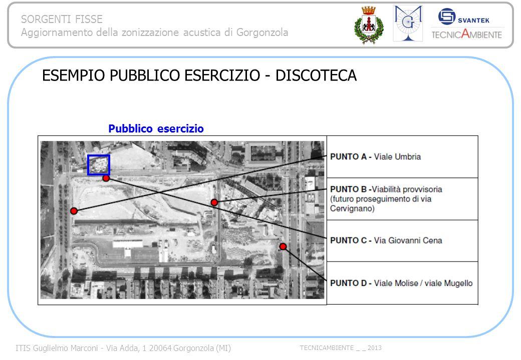 ITIS Guglielmo Marconi - Via Adda, 1 20064 Gorgonzola (MI) TECNICAMBIENTE _ _ 2013 SORGENTI FISSE Aggiornamento della zonizzazione acustica di Gorgonz