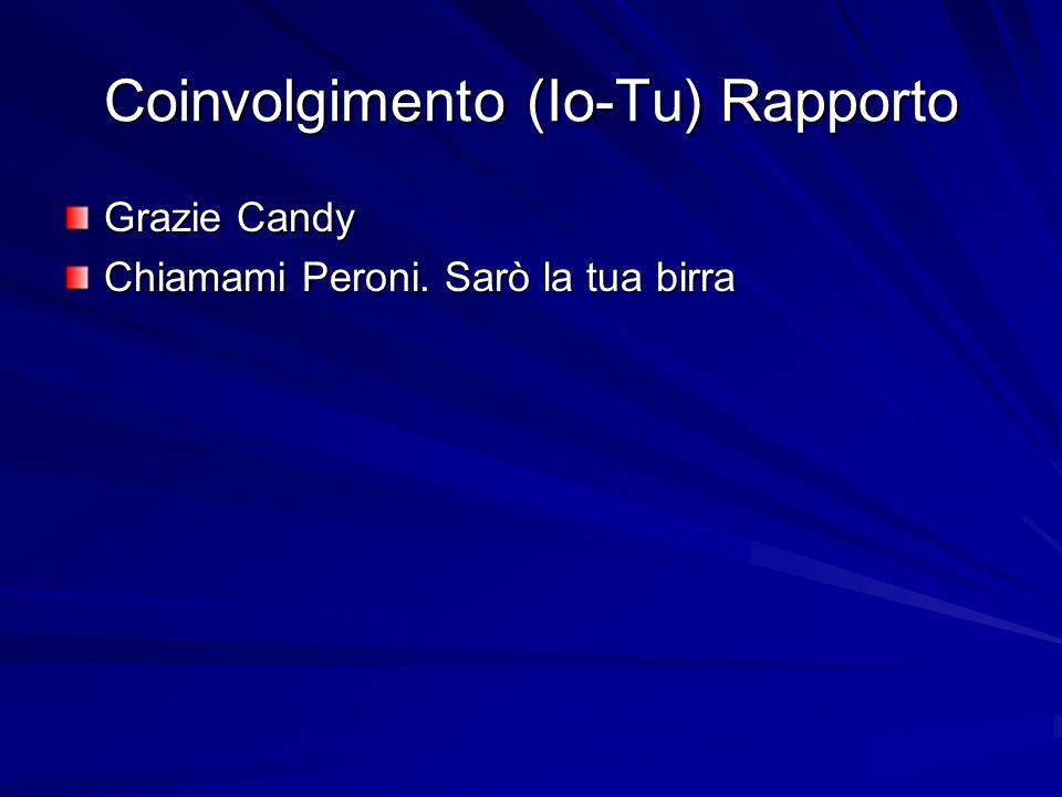 Coinvolgimento (Io-Tu) Rapporto Grazie Candy Chiamami Peroni. Sarò la tua birra