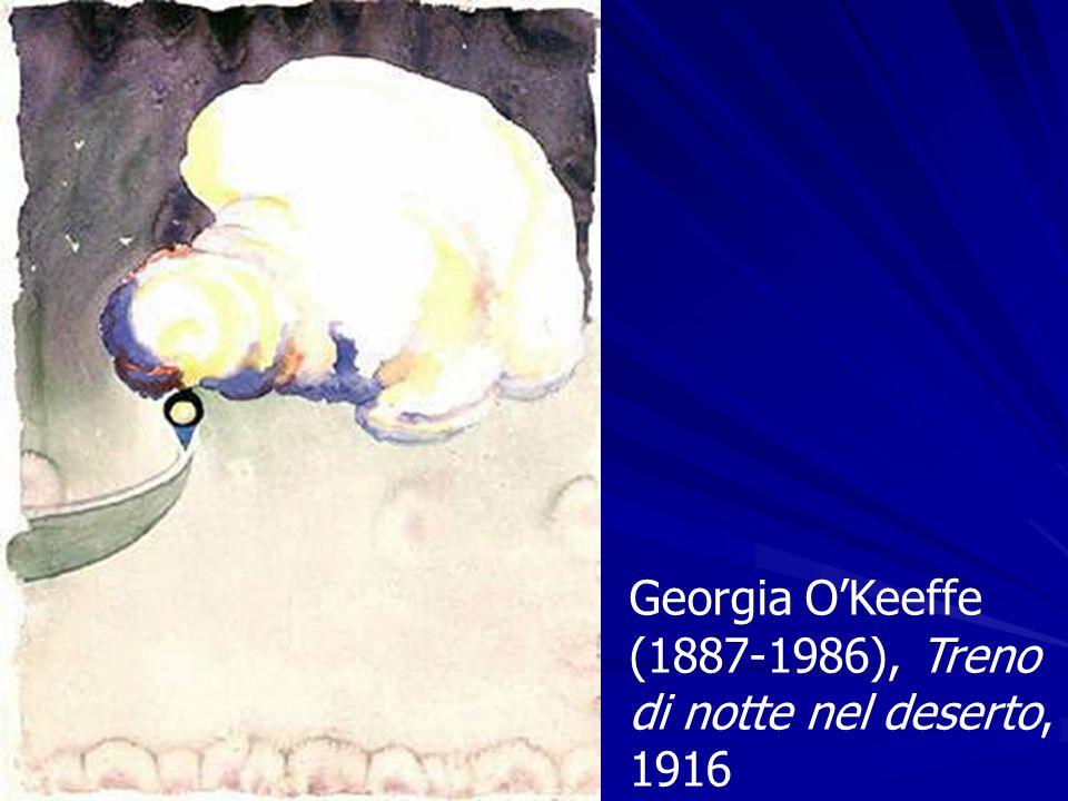 Georgia OKeeffe (1887-1986), Treno di notte nel deserto, 1916