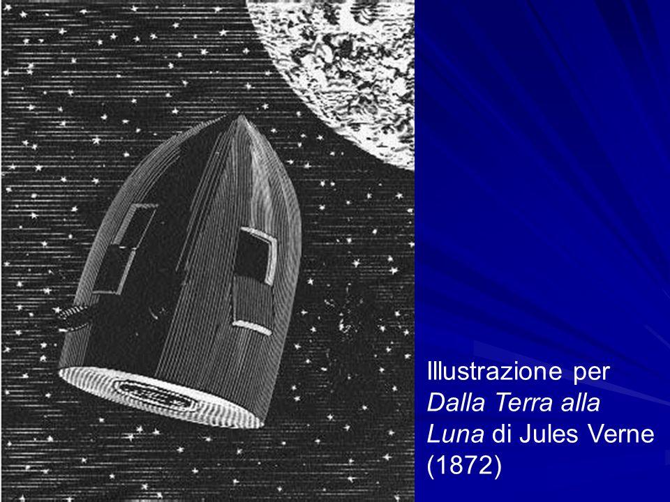 Illustrazione per Dalla Terra alla Luna di Jules Verne (1872)