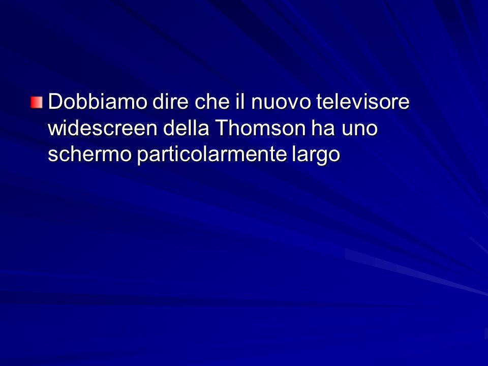 Dobbiamo dire che il nuovo televisore widescreen della Thomson ha uno schermo particolarmente largo