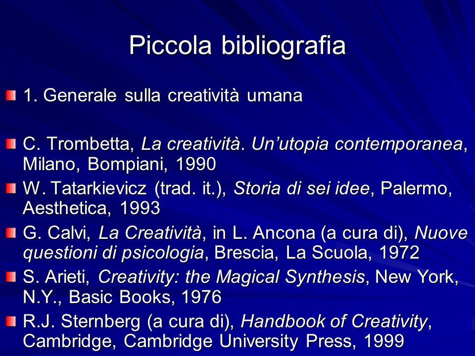 Piccola bibliografia 1.Generale sulla creatività umana C.