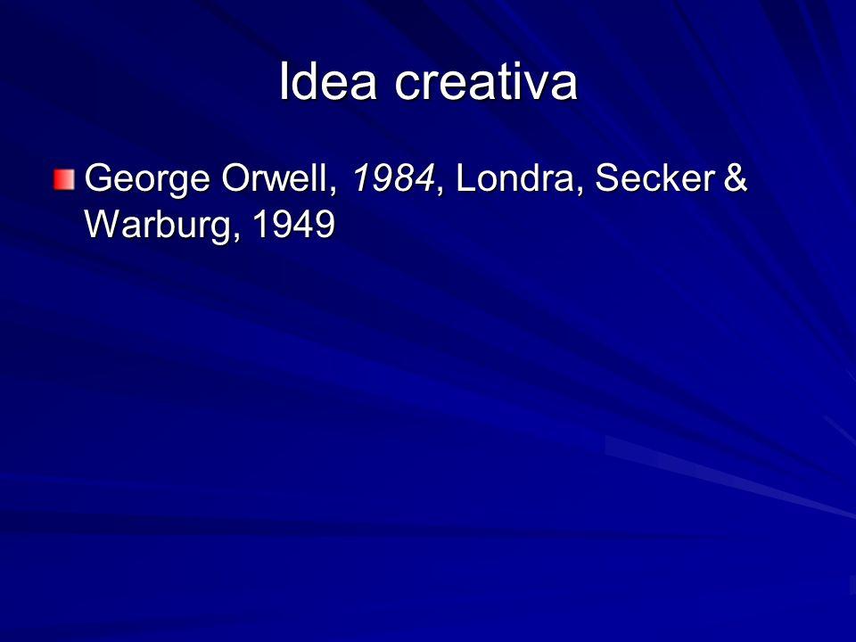 Idea creativa George Orwell, 1984, Londra, Secker & Warburg, 1949