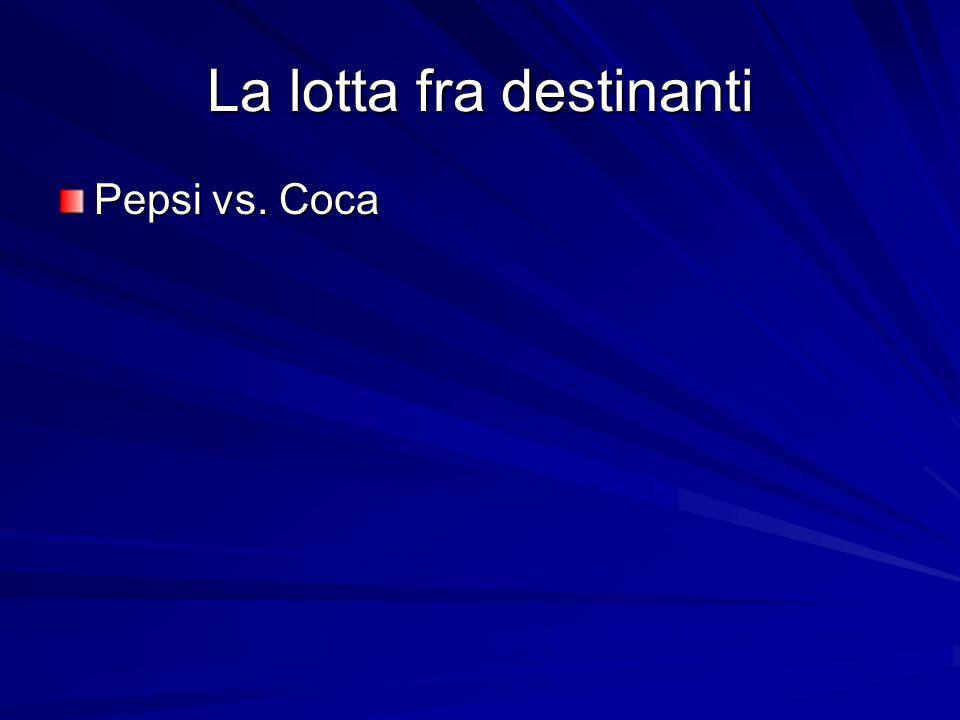 La lotta fra destinanti Pepsi vs. Coca