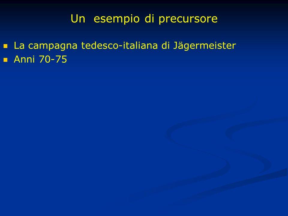 Un esempio di precursore La campagna tedesco-italiana di Jägermeister Anni 70-75