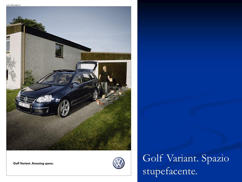 Golf Variant. Spazio stupefacente.
