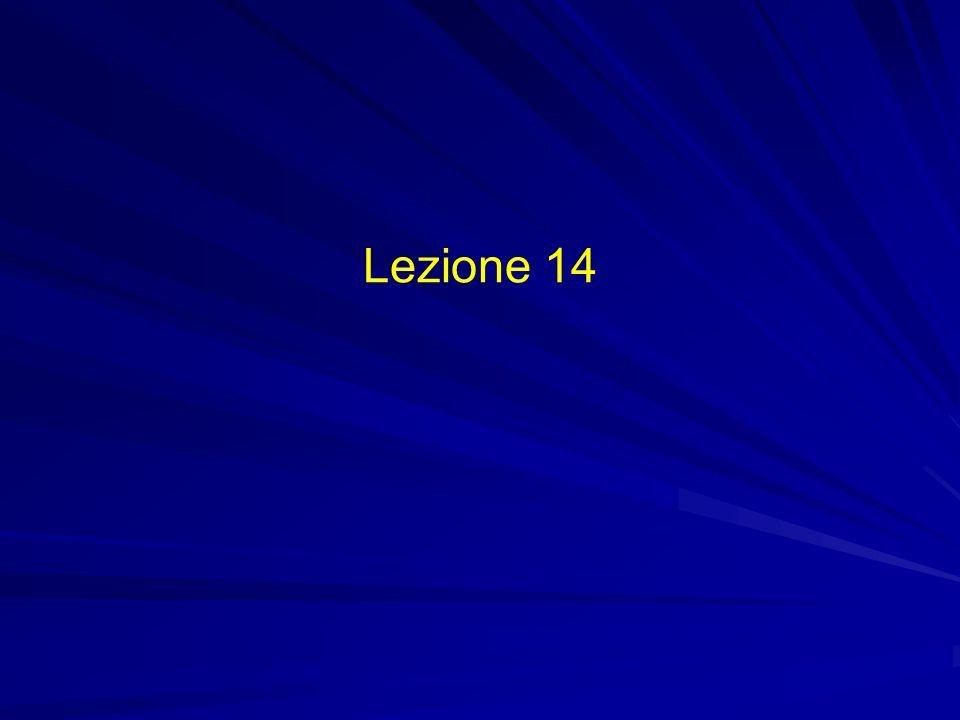 Lezione 14