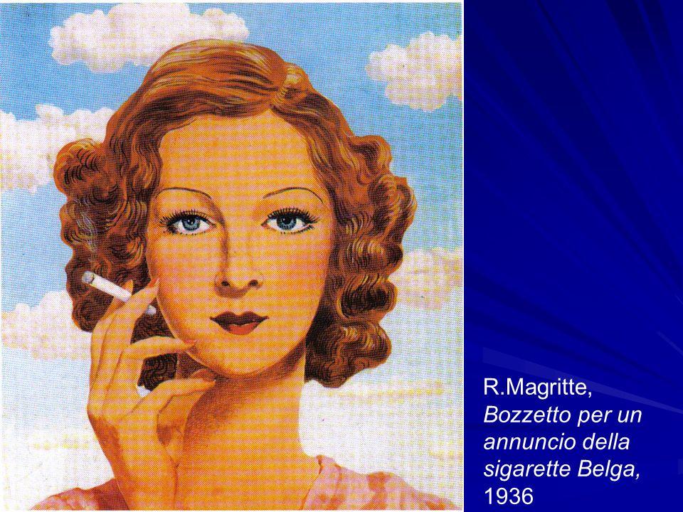 R.Magritte, Bozzetto per un annuncio della sigarette Belga, 1936