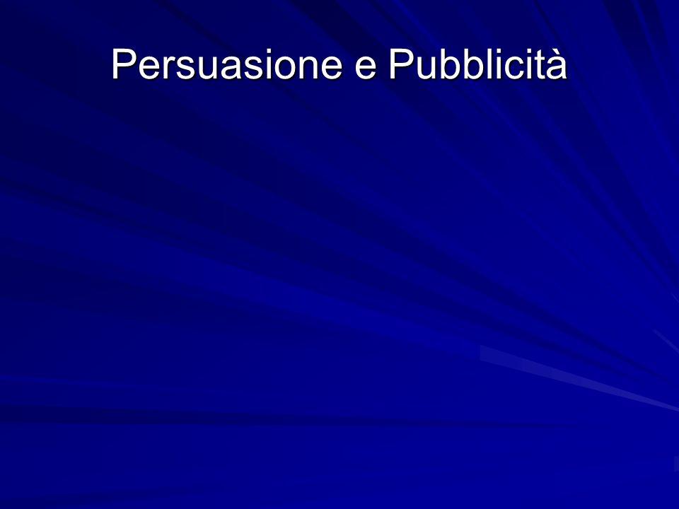 Che cosa si intende per Persuasione La persuasione è un atto di comunicazione intenzionale che, se raggiunge il proprio obiettivo, fa mutare gli atteggiamenti cognitivi o affettivi del destinatario nei confronti di un oggetto o di unazione, nel senso voluto dallemittente