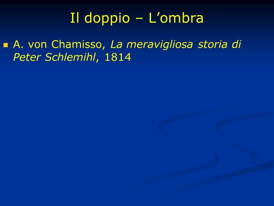 Il doppio – Lombra A. von Chamisso, La meravigliosa storia di Peter Schlemihl, 1814
