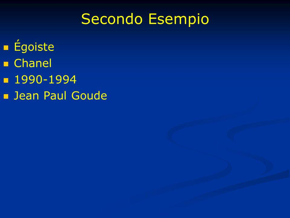 Secondo Esempio Égoiste Chanel 1990-1994 Jean Paul Goude
