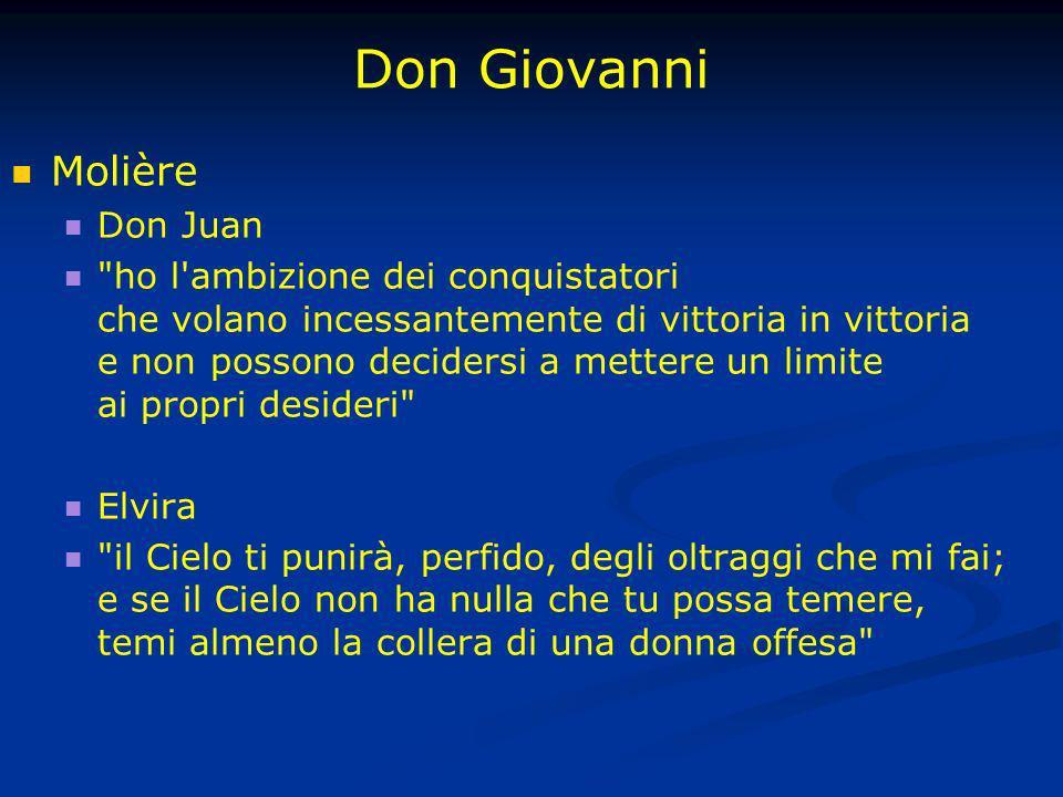 Don Giovanni Molière Don Juan