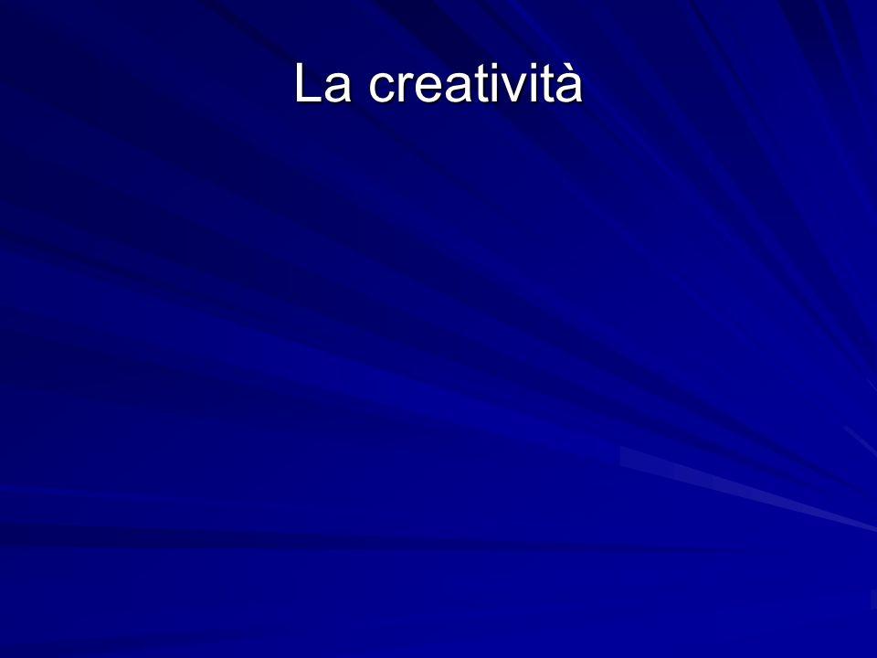 Illuminazione (o Insight) Nascono le idee Il creativo deve abituarsi a riconoscerle Lintima soddisfazione è un buon segnale Ma le idee non possono nascere se da parte del creativo non cè la conoscenza delle tecniche necessarie per realizzarle: –chi non sa disegnare, non potrà mai avere lidea di un quadro creativo –potrà averle solo conoscendo le tecniche della pittura –perché la creatività si esprime solo attraverso un linguaggio –solo dominando quel linguaggio si può esprimere la propria creatività