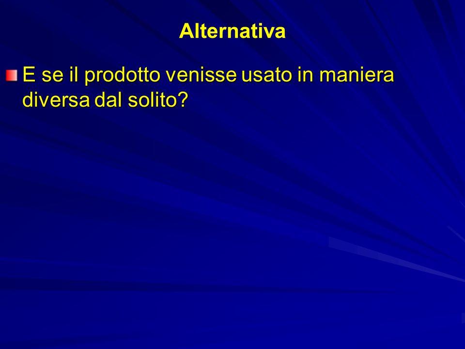 Alternativa E se il prodotto venisse usato in maniera diversa dal solito?