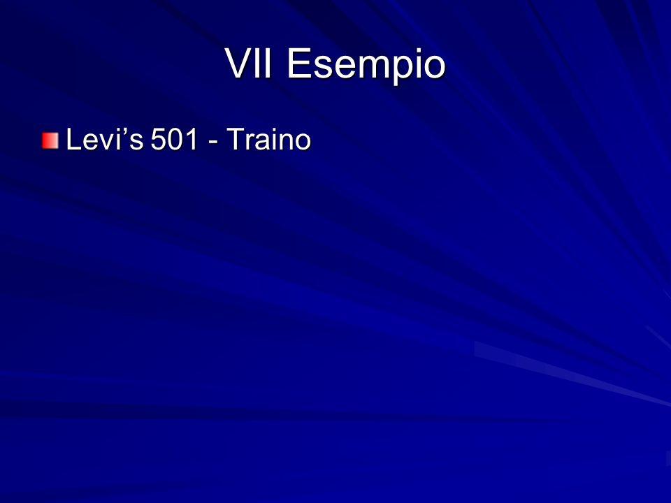 VII Esempio Levis 501 - Traino
