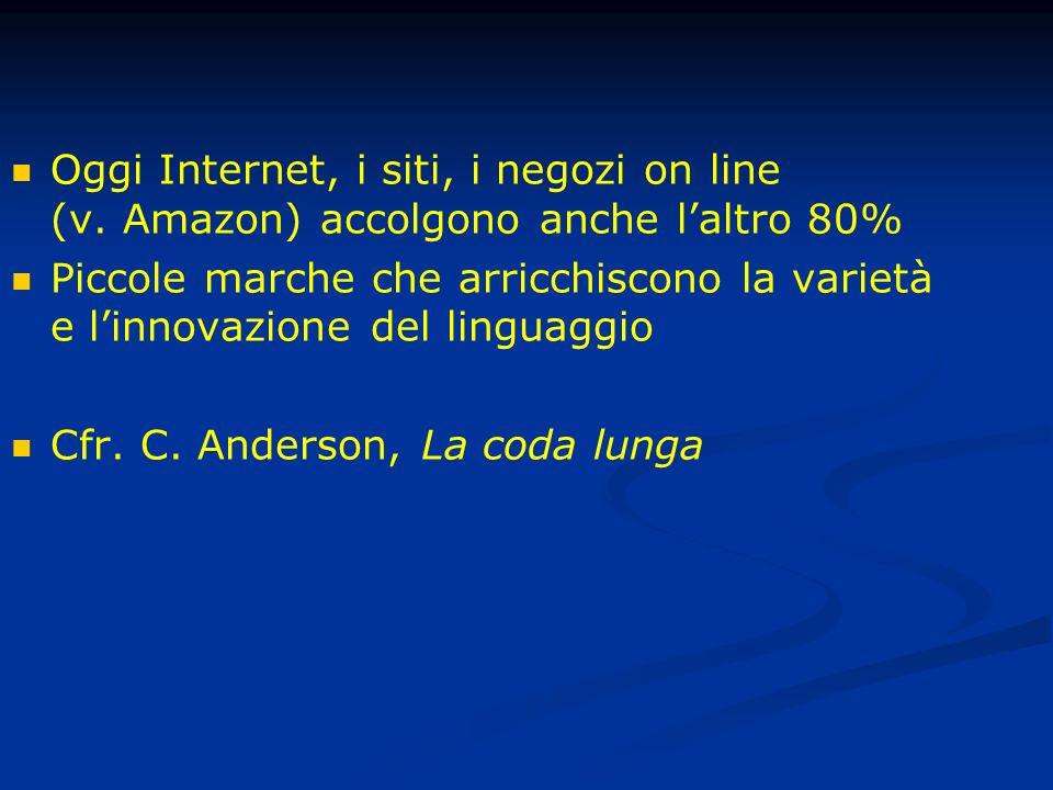 Oggi Internet, i siti, i negozi on line (v.