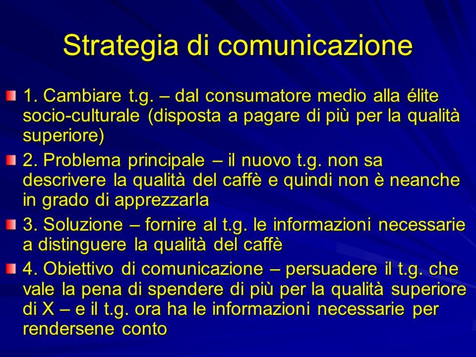 Strategia di comunicazione 1. Cambiare t.g.