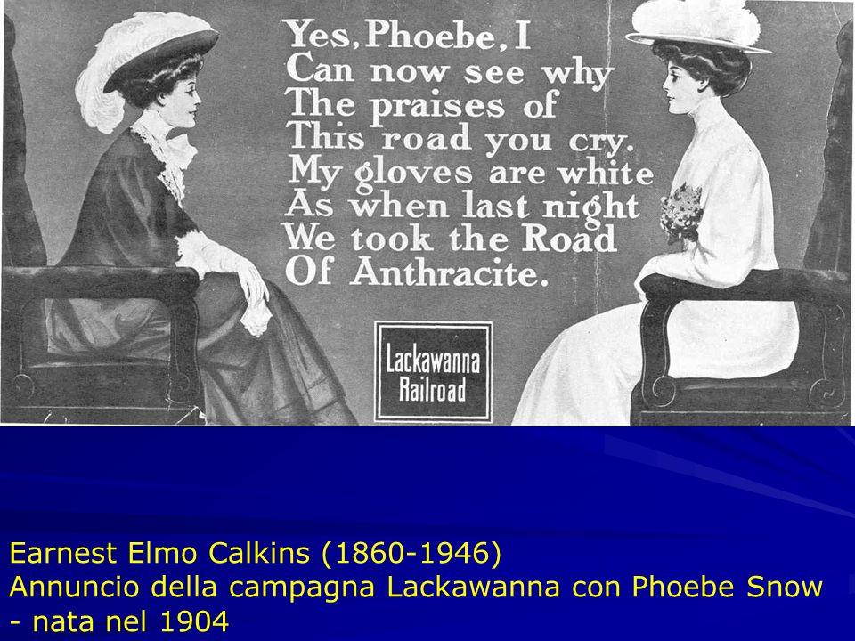 Earnest Elmo Calkins (1860-1946) Annuncio della campagna Lackawanna con Phoebe Snow - nata nel 1904