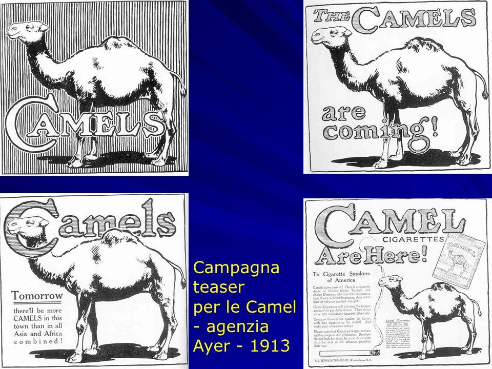 Campagna teaser per le Camel - agenzia Ayer - 1913