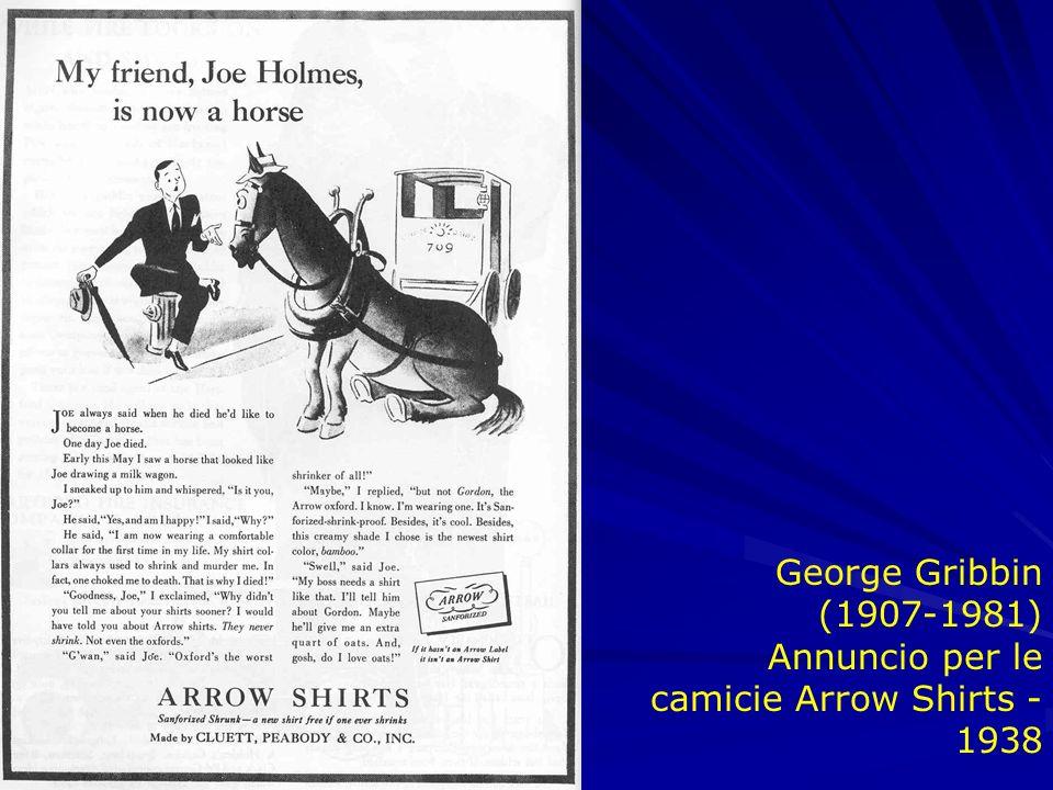 George Gribbin (1907-1981) Annuncio per le camicie Arrow Shirts - 1938