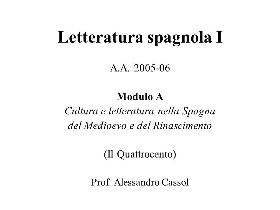 Letteratura spagnola I A.A.