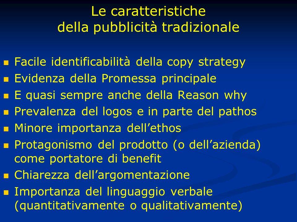 La nuova campagna (2007) In controtendenza Perdita di assolutezza Inserimento nel filone di ideologizzazione del marchio