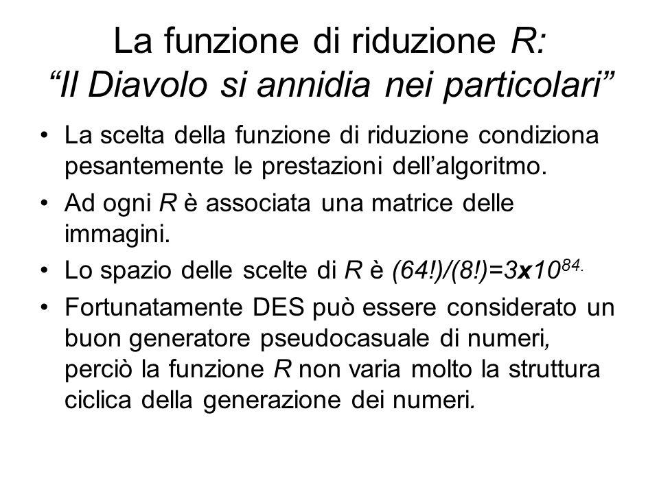 La funzione di riduzione R: Il Diavolo si annidia nei particolari La scelta della funzione di riduzione condiziona pesantemente le prestazioni dellalg