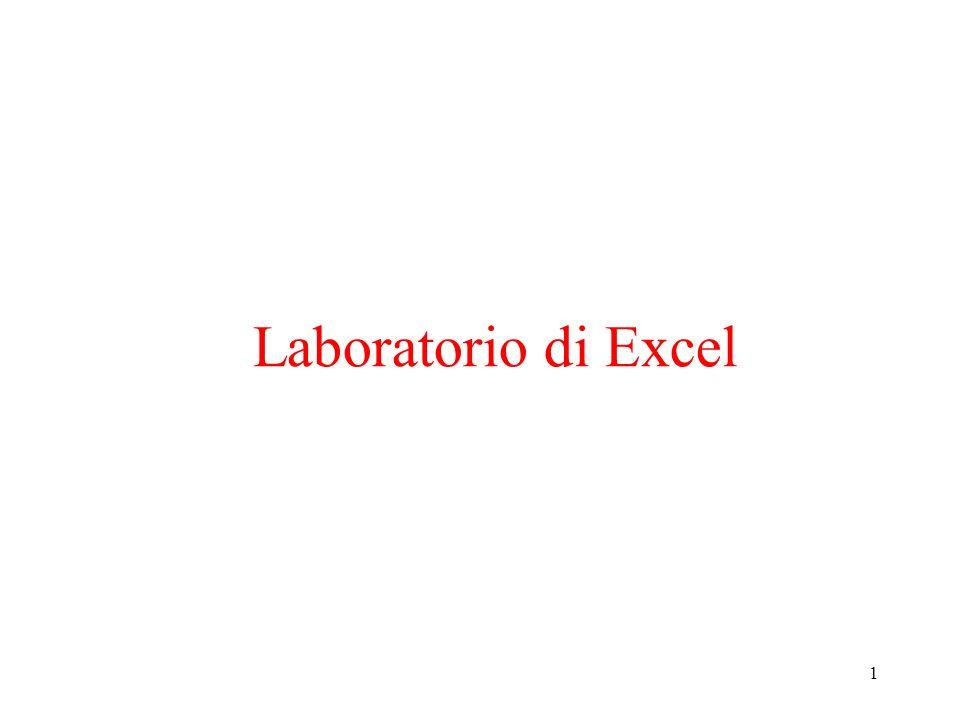 1 Laboratorio di Excel