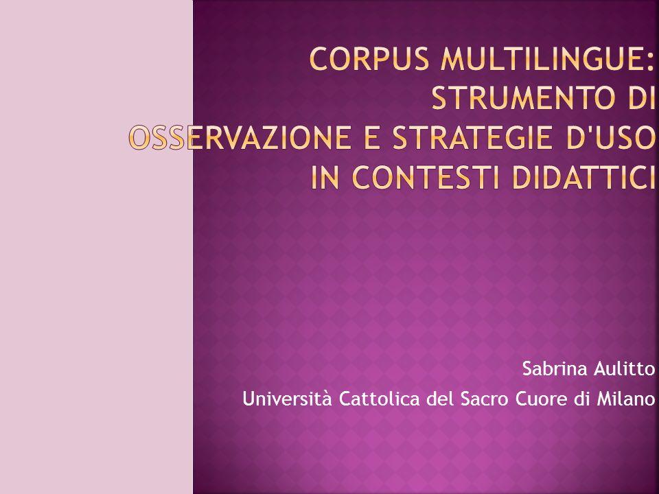 Sabrina Aulitto Università Cattolica del Sacro Cuore di Milano