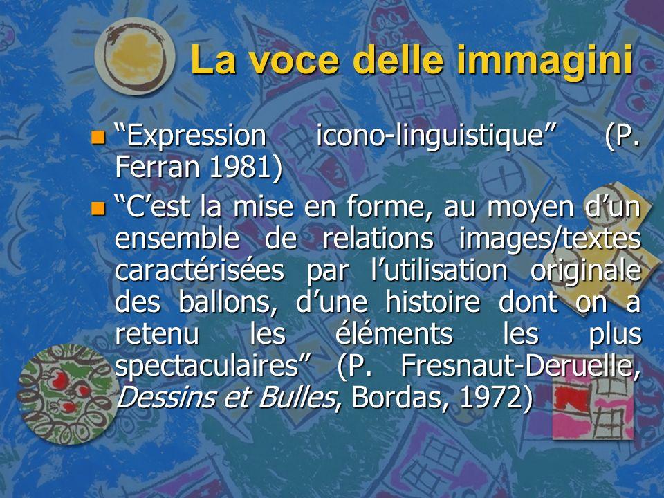 La voce delle immagini n Il fumetto è una realtà complessa n Non esiste solo laspetto grafico e quello strettamente linguistico n Nella dimensione linguistica esistono sottocodici tipici e caratteristici del dialogo da fumetto