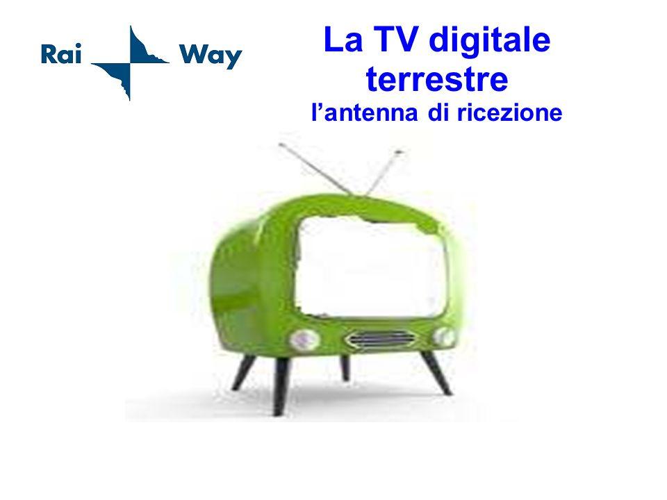 La TV digitale terrestre lantenna di ricezione Esempio di impianto minimo dantenna