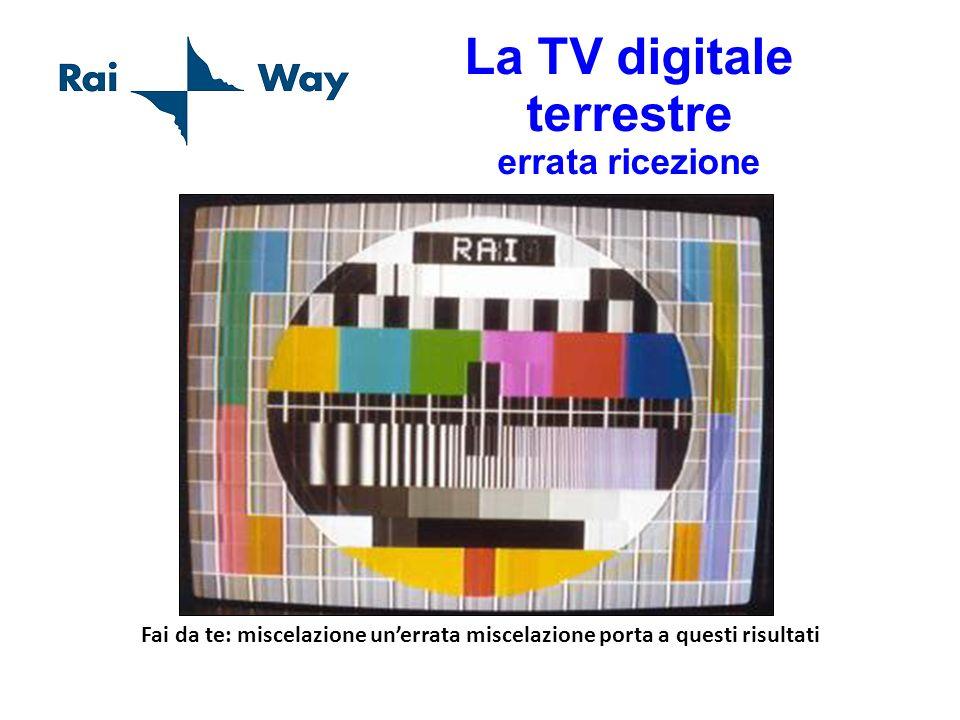 La TV digitale terrestre errata ricezione Fai da te: miscelazione unerrata miscelazione porta a questi risultati