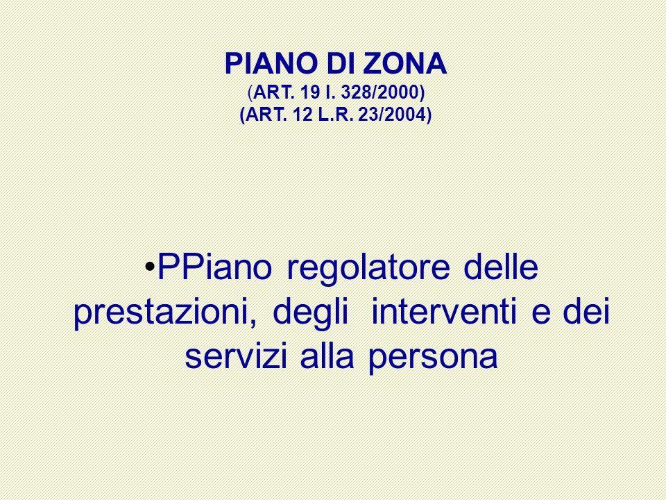 PIANO DI ZONA (ART. 19 l. 328/2000) (ART. 12 L.R.