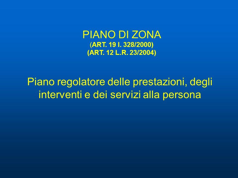 Piano regolatore delle prestazioni, degli interventi e dei servizi alla persona PIANO DI ZONA (ART. 19 l. 328/2000) (ART. 12 L.R. 23/2004)