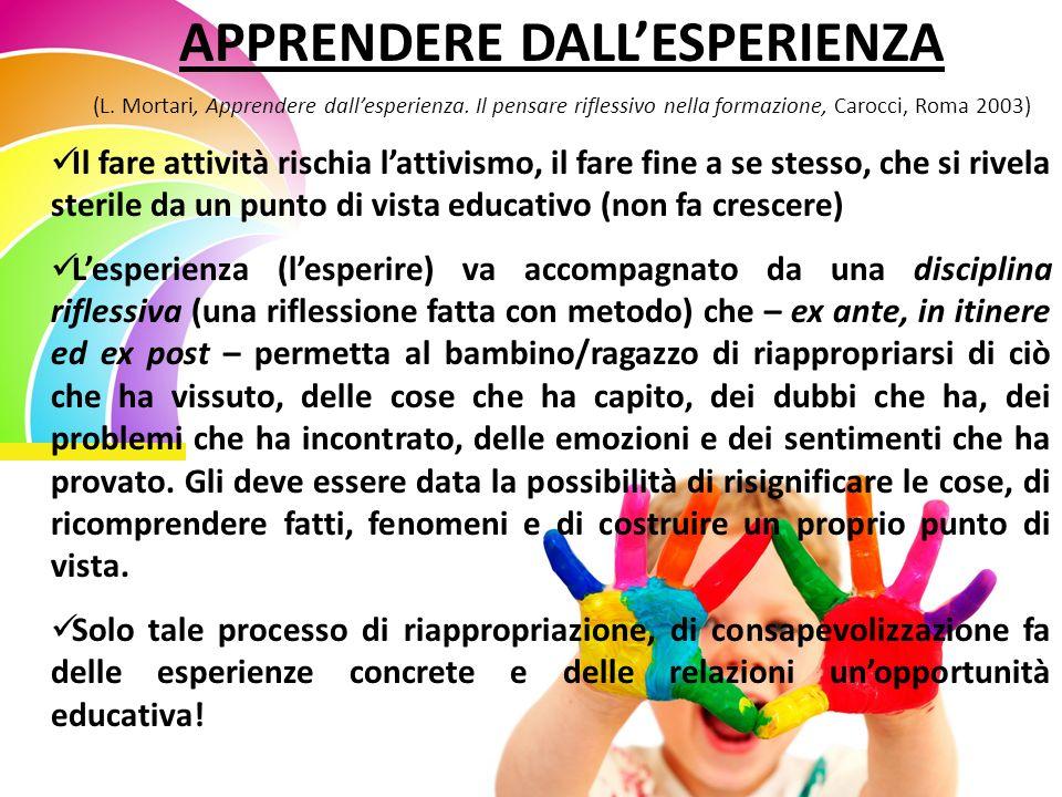APPRENDERE DALLESPERIENZA (L. Mortari, Apprendere dallesperienza.