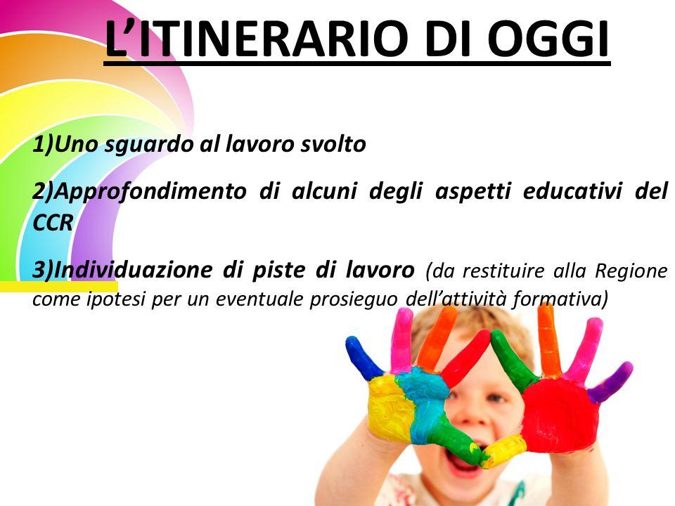 IL PERCORSO FATTO Sguardo della complessità (tanti elementi, fenomeni, soggetti intrecciati insieme) Utilizzo della categoria pedagogica della domanda educativa (G.