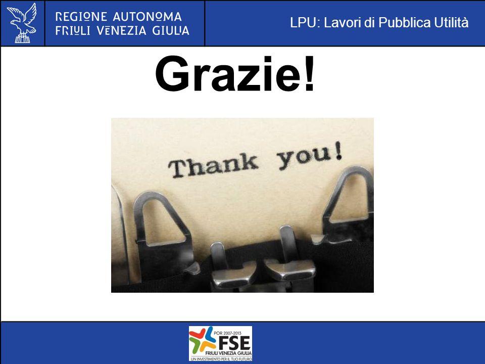 LPU: Lavori di Pubblica Utilità Grazie!