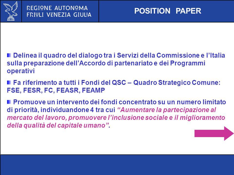 Delinea il quadro del dialogo tra i Servizi della Commissione e lItalia sulla preparazione dellAccordo di partenariato e dei Programmi operativi Fa ri