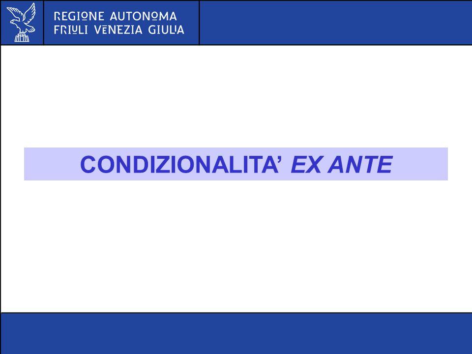 CONDIZIONALITA EX ANTE