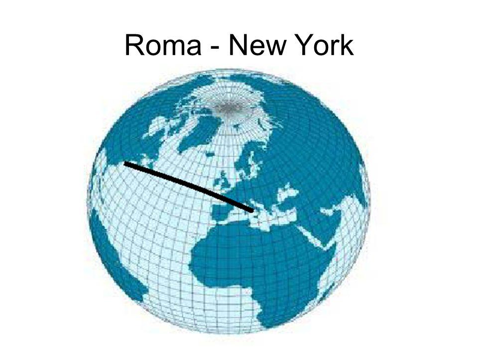 Geometria sulla sfera Quali sono le curve di minima lunghezza che collegano due punti sulla superficie della sfera.