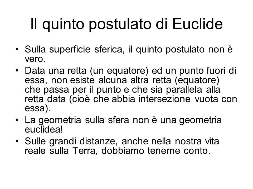 Un po di storia Euclide formulò cinque postulati che stanno alla base della geometria (che da lui in poi si chiama euclidea) e che è la geometria classica.