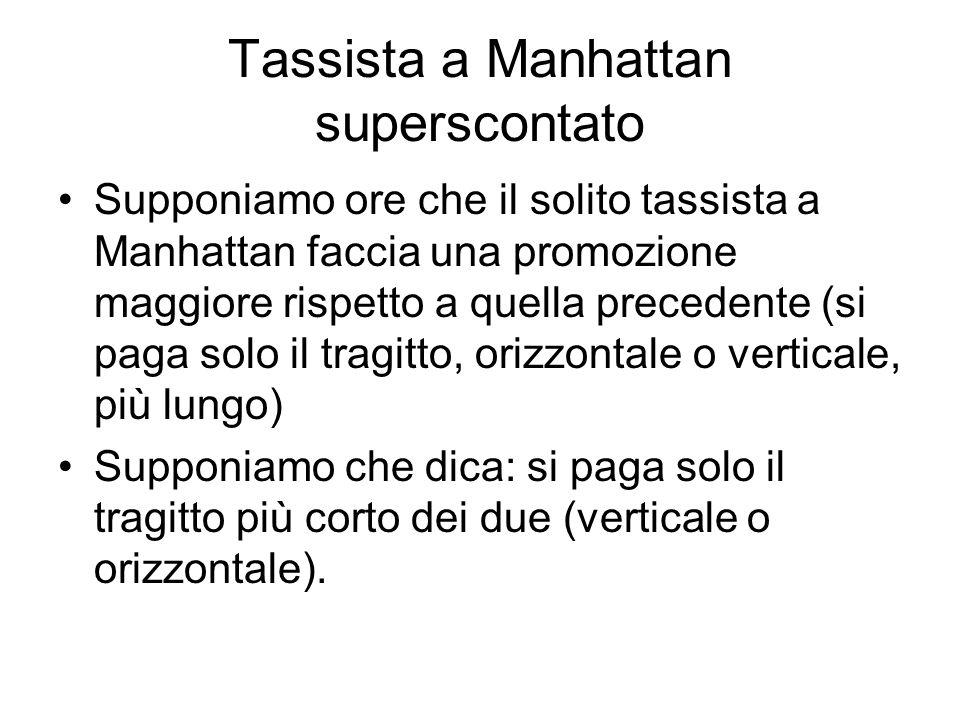 Il Tassista a Manhattan, superscontato B A Due blocchi verticali + Tre blocchi orizzontali