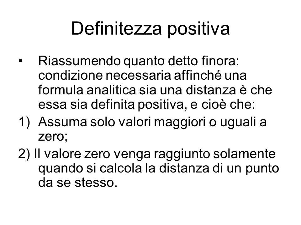 Altro esempio Consideriamo la formula Questa è definita positiva, ma ha un altro difetto.