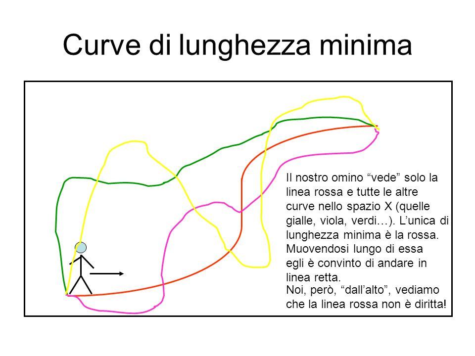 Dalla vita reale Quando noi camminiamo in linea retta (ad esempio lungo le rotaie della ferrovia), andiamo per davvero in linea retta?