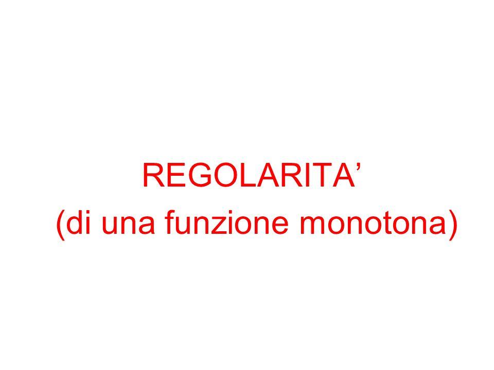 REGOLARITA (di una funzione monotona)