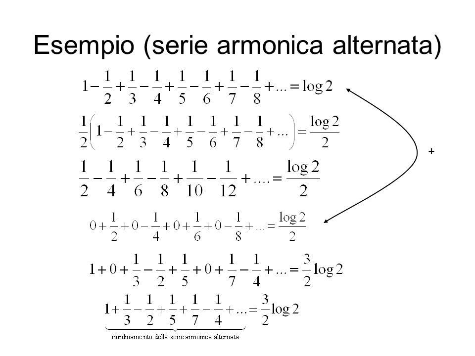 Esempio (serie armonica alternata) +