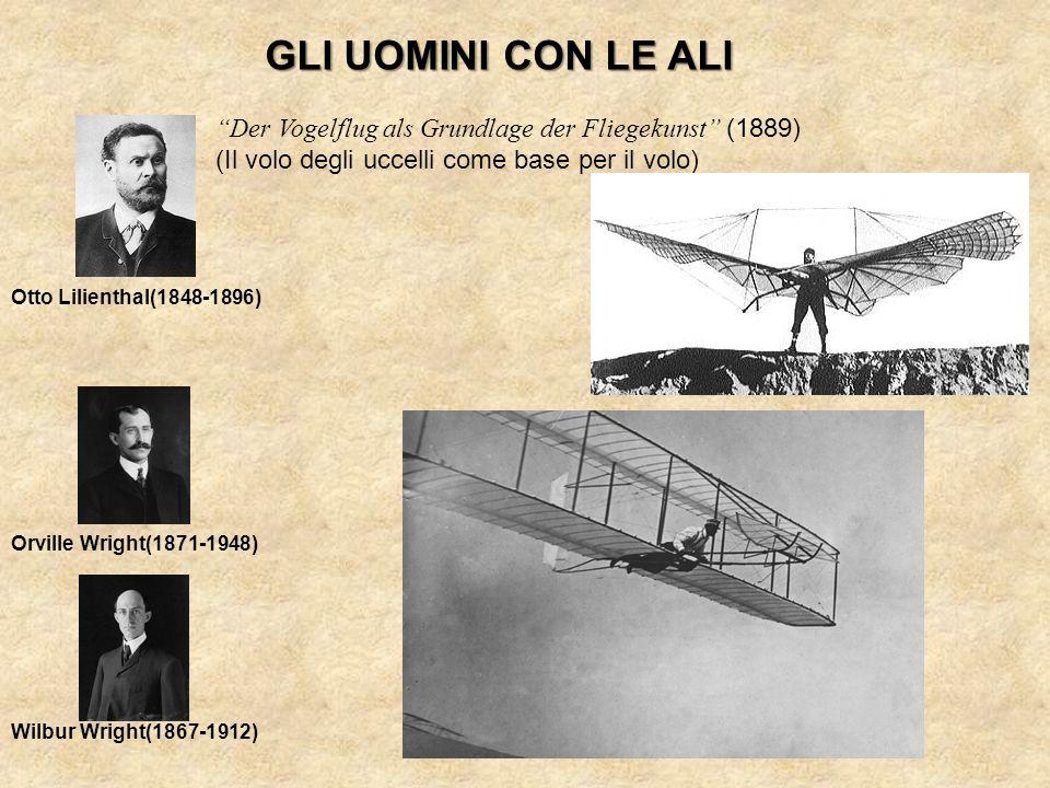 GLI UOMINI CON LE ALI Der Vogelflug als Grundlage der Fliegekunst (1889) (Il volo degli uccelli come base per il volo) Otto Lilienthal(1848-1896) Orvi