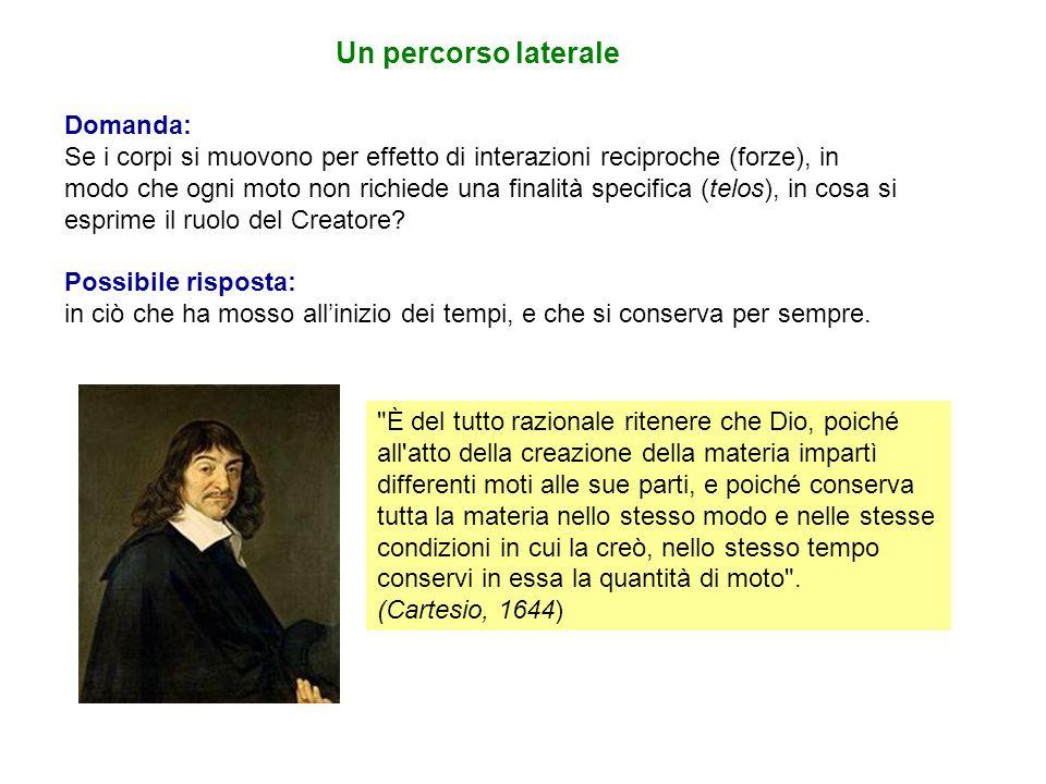 Per Cartesio, come successivamente per Newton, la quantità di moto è il prodotto della massa di un corpo per la sua velocità.
