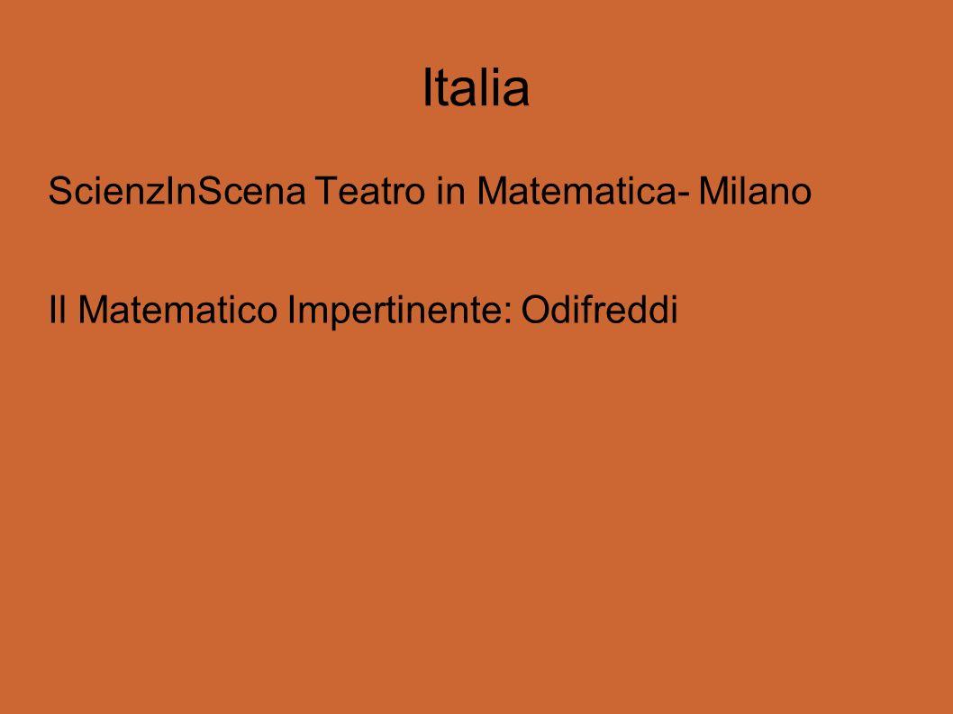 Italia ScienzInScena Teatro in Matematica- Milano Il Matematico Impertinente: Odifreddi